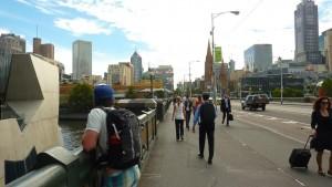 Depuis St Kilda Road à Melbourne