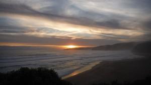 Coucher de soleil a Johanna beach