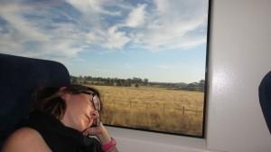 Elodie dans un musée ou Elodie dans un train ?