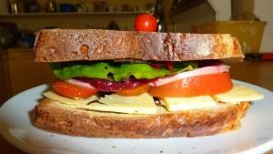 Le repas du midi avec des produits frais