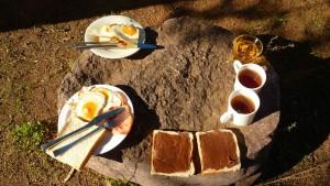Petit-dejeuner avant de suer
