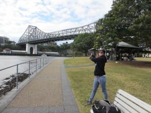 Avant l'ascension du pont