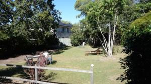 Vue de notre batiment de l'hostel à Hervey Bay