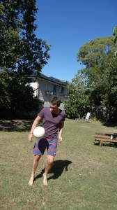 Football à l'hostel à Hervey bay