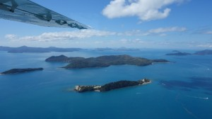 Survol des Whitsundays