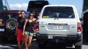 Sur le ferry pour Fraser Island