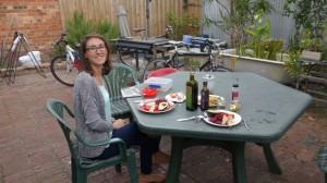 Repas dans le jardin