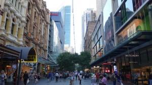 La seule rue piétonne commerçante de Sydney
