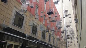 les cages avec les sons des différents oiseaux d'Australie, sculpture permanente